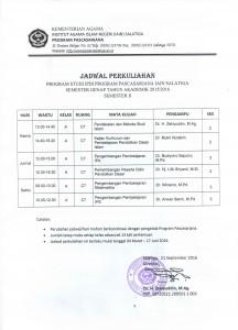 Jadwal Kuliah IPDI 2016
